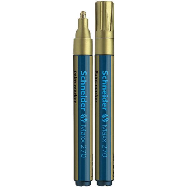 Marker olejowy SCHNEIDER Maxx 270 okragly 1-3mm zloty